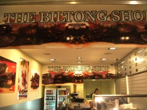 A restaurant in Perth specialized in Biltong - a popular and typical boer-afrikaner food